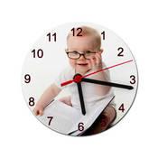 Seramik Yuvarlak Saat 16 cm + tasarım + baskı