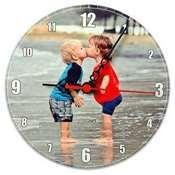 HDF Yuvarlak Duvar Saati 27 x 27 cm + baskı
