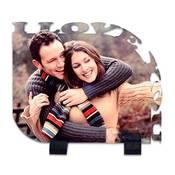 I Love You Kenar Kesimli 21x17 cm mdf üzeri ayaklı fotoğraf baskı