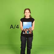 A4 21 X 29,7 cm Fotoblok Baskı