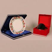 Seramik Mavi osmanlı tabak + Seramik Sihirli Kupa + özel kadife kutu + tasarım + baskı