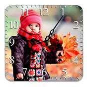 Ahşap Mdf Kare Duvar Saati 20 x 20 cm + baskı