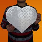 A-3 97 parça Kalp Puzzle Ayaklı