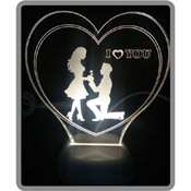 3 Boyutlu Led Lamba KİŞİYE ÖZEL Lazer Kazıma - Aşk deseni