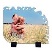 Canım Annem Kenar Kesimli 21x17 cm ahşap mdf üzeri ayaklı fotoğraf baskı