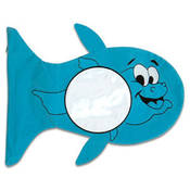 Balık Figürlü Mavi Yastık